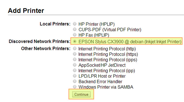 How to set up a USB network printer and scanner server on