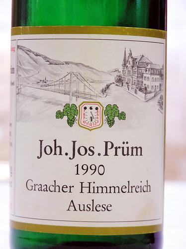 Joh. Jos. Prüm 1990 Graacher Himmelreich Riesling Auslese Mosel-Saar-Ruwer
