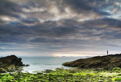 sunset sea wales canon coast seaside rocks coastal pembrokeshire