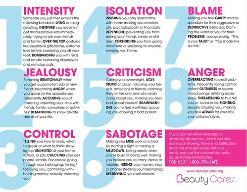 Beauty Cares: 8 warning signs of domestic violence