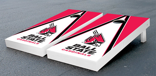 Ball State Cardinals Cornhole Bag Toss Game Set Triangle