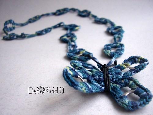 collana farfalla blu linguette lattine 4