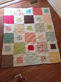 "Fly A Kite quilt for Lilly W.  - Riley Blake ""fly a kite"" and other fabric scraps."