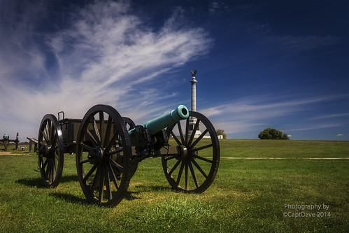 Antietam National Battlefield 6 Pounder And Monument 6X4