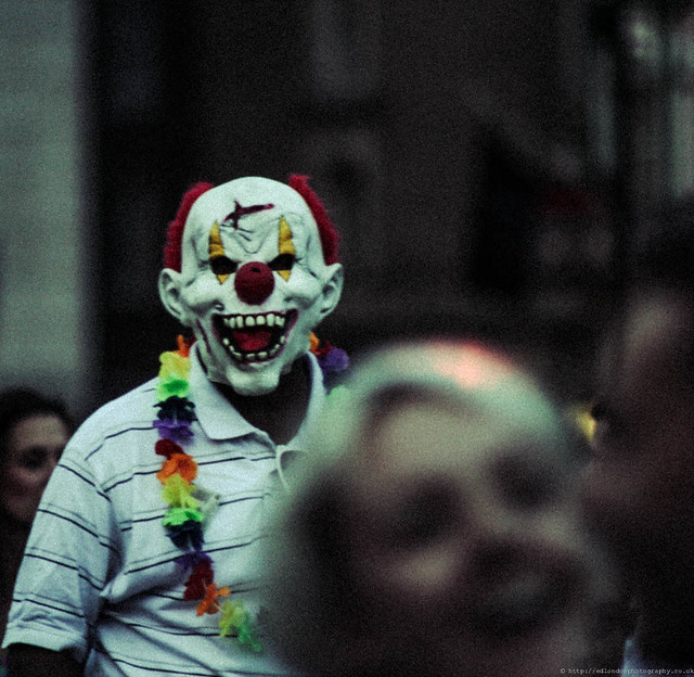 a recount on the coulrophobia the fear of clowns According to the dictionary, a clown is a comic performer, usually in a circus, who  dresses up in outlandish costumes and make-up.