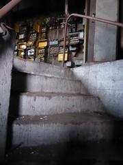 Urbex Malmö, trap van kelder naar werkruimte