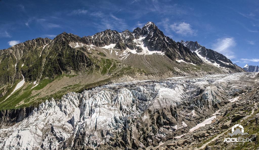 Panoramique sur le glacier d'Argentière