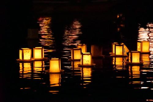 石神井公園 灯籠流しの夕べ