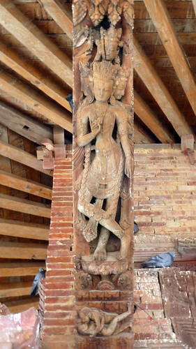 Nepal- Kathmandu - Jagannath Temple - Erotic Wood Carvings - 12