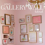 how to make a corner gallery wall via Kristina J blog