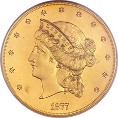 Half Union patterin in gilt copper obverse