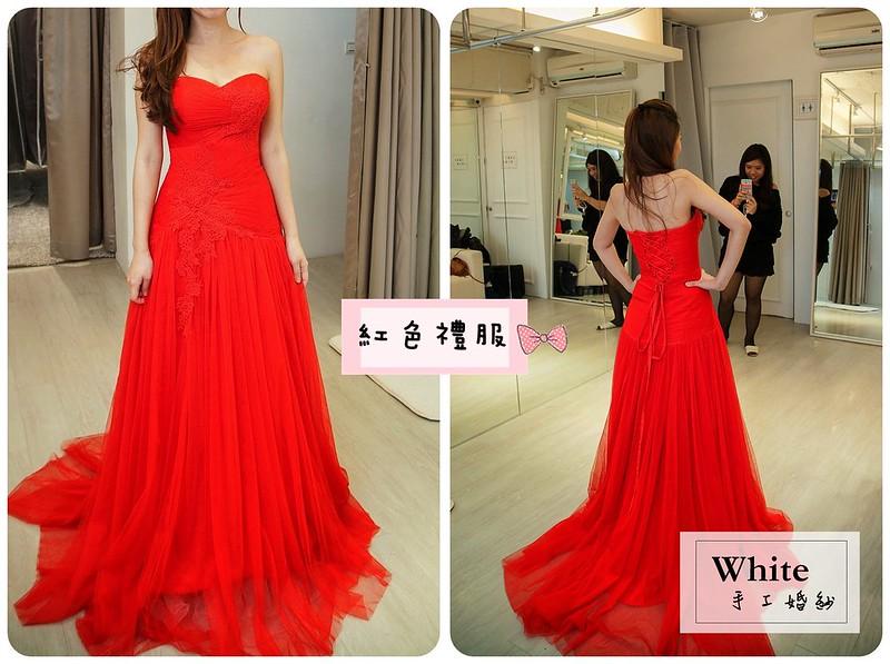 WHITE  紅色禮服