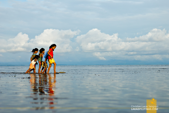 Kids Playing at Tambobong Beach in Dasol, Pangasinan
