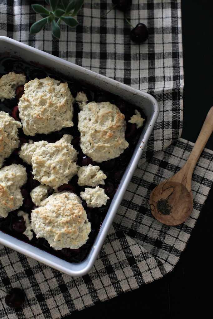 Cherry + Thyme Cobbler for Wit & Aroma