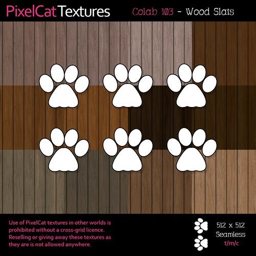 PixelCat Textures - Colab 103 - Wood Slats