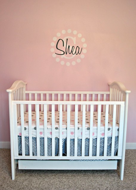 Shea's Nursery Decal and Crib