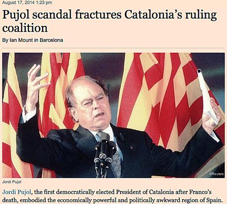 14h17 FT Escándalo pujol fragmenta y debilita a Cataluña