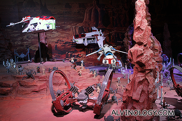 Battle scene from Star Wars Episode II: Attack of the Clones
