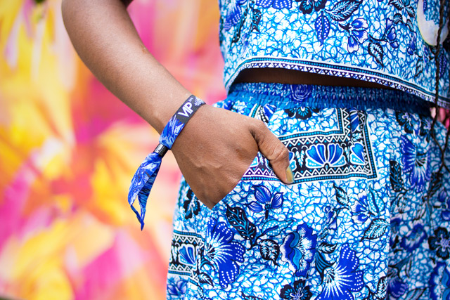 blue matching set made from cambodian fabric