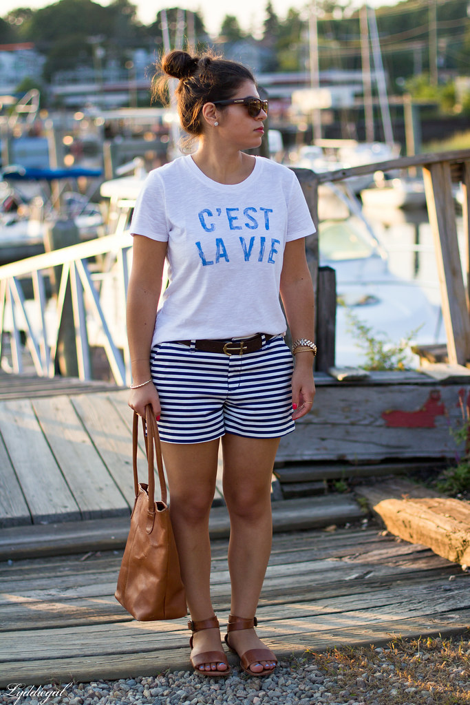 c'est la vie tee, striped shorts-4.jpg
