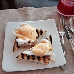 2nd course: Eggs Benedict at 18° in Hyatt Capital Gate #InAbuDhabi