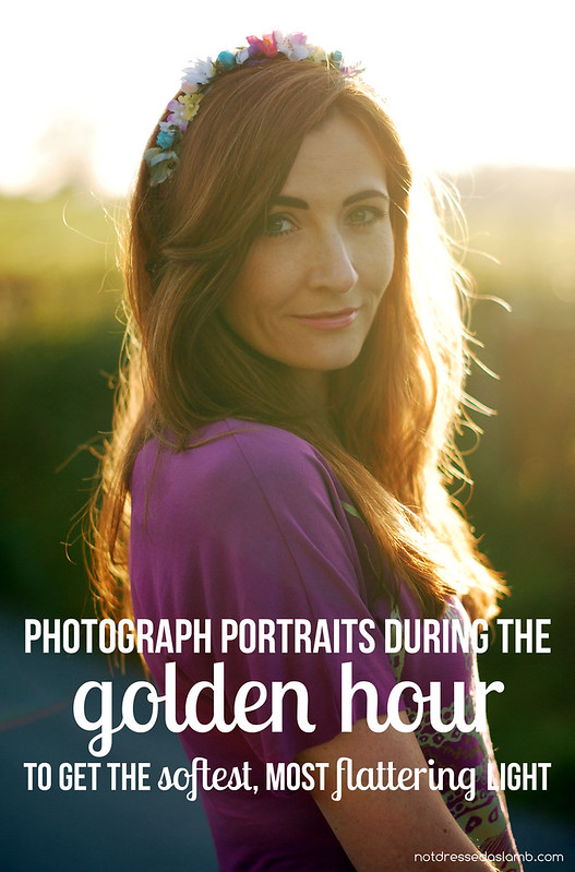 Portrait Photo Tip: Photogrpah portraits during the golden hour