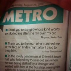 Of the top two in the Good Deed Feed I can't pick a favourite.