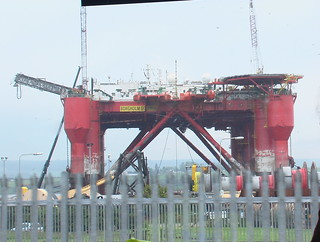 Oil/Gas rig in the north of Scotland