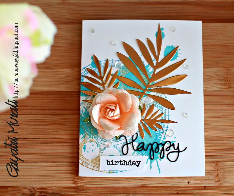 Happy Birthday card flat