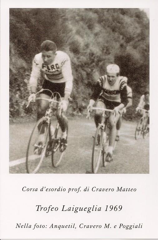 Trofeo Laigueglia 1969 - Matteo con Anquetil sulla salita di Testico