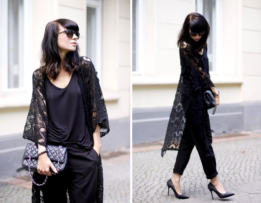 Sojeans black look cape lace winter dark mystic outfit ootd look lookbook CATS & DOGS Ricarda Schernus berlin fashion blogger 1