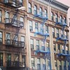 Some like their Harlem fire escapes in blue, others in black! Photo by my Dad!