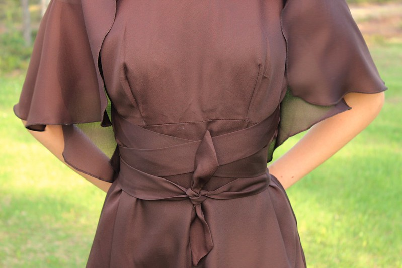 The chocolate gown