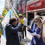 Caminhada no Largo 13 de Maio, em Santo Amaro (SP)