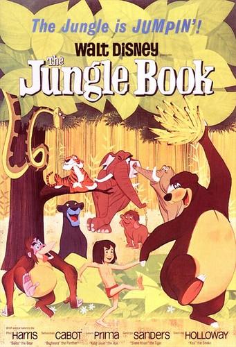 華特迪士尼電影森林王子(The Jungle Book),1967年上映,圖片來源:維基百科。