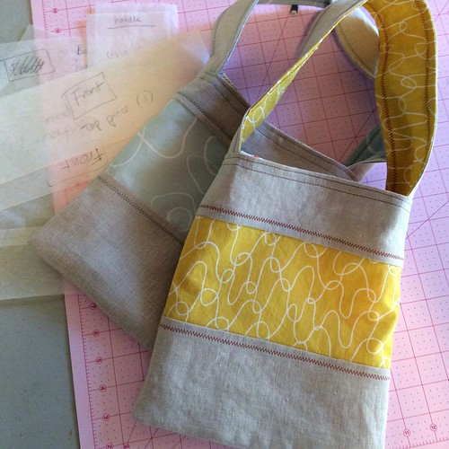 Linen and cotton project bags