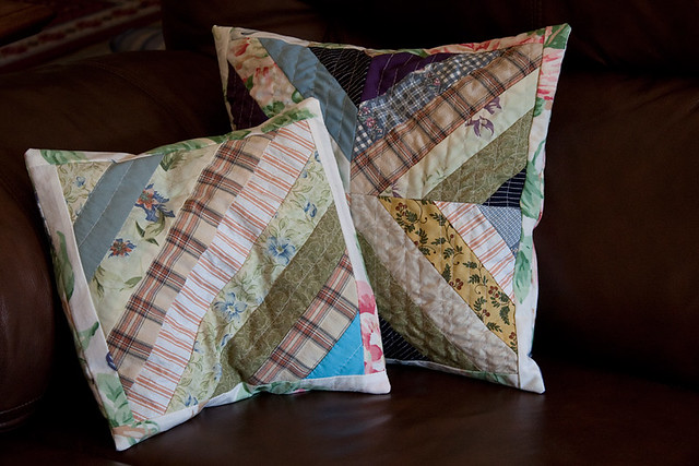 String-Quilted Pillow Slip-Covers
