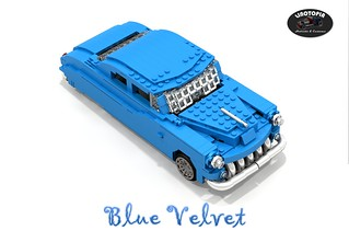 Linotopia - Blue Velvet - 1950 Mercury Lead Sled Coupe