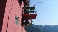Mechanizm kolejki linowej w Khulo, w górach Adjara.