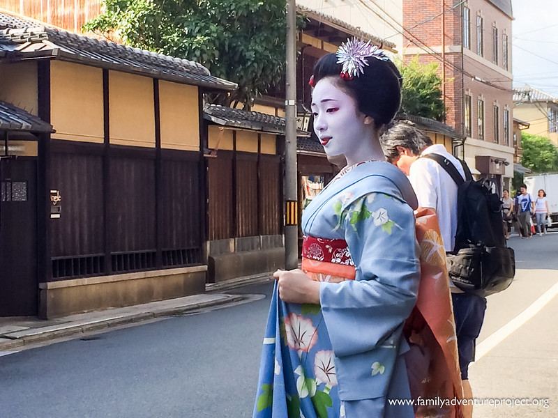 Maiko on the streets of Kyoto