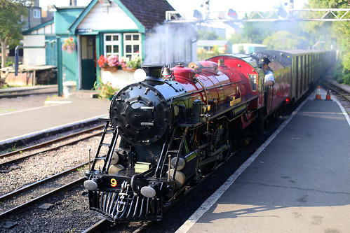 "Arrival at Hythe by #9, ""Winston Churchill"""