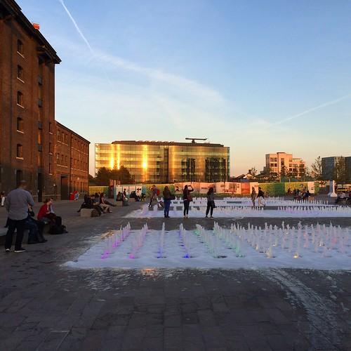 Granary Square. Last days of summer