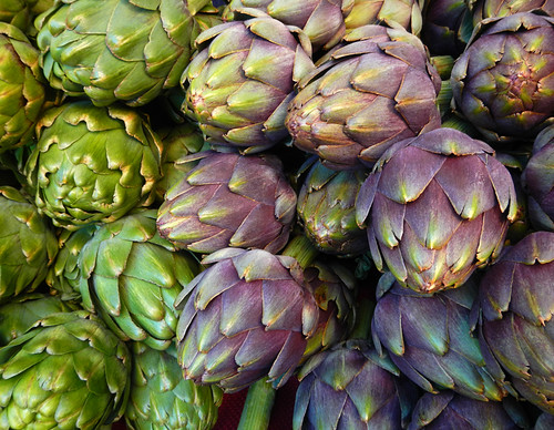 Artichokes at the Portland Farmer's Market