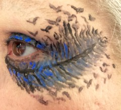 Today's eyeliner, homage to Kate Bush.