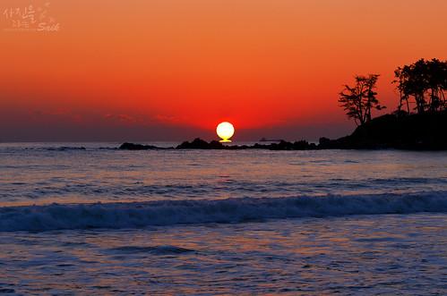 seascape sunrise korea