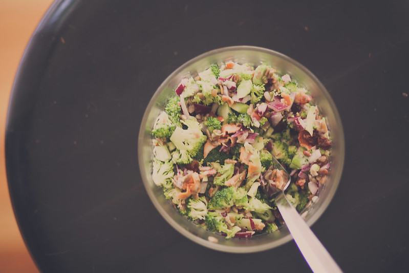 One of the yummiest Broccoli Salads ever. No mayo! Great for parties. Always a favorite.