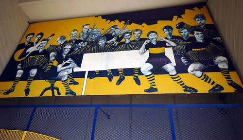 Mural at the Boca Juniors Stadium in Buenos Aires, Argentina