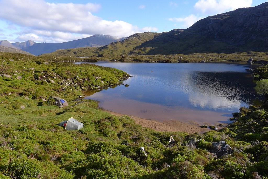 Wild camp by Loch na Craoibhe-caoruinn