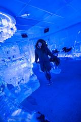 Laura at the Below 0 Ice Bar