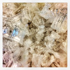 Cleaning out the freezer and found these cool #ice crystals in a tub of mystery food.